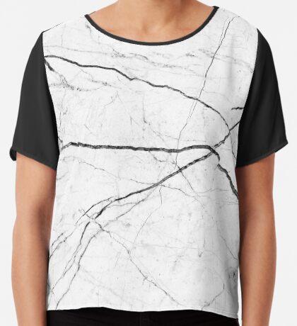 Mármol abstracto blanco textura Blusa