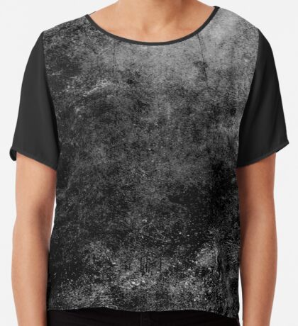 Grunge textura abstracta negro Blusa