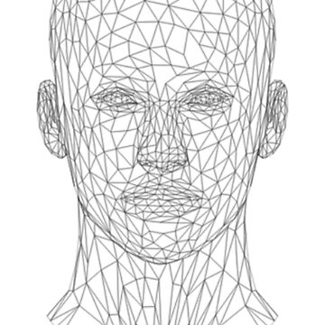Wire frame human head by TOMSREDBUBBLE