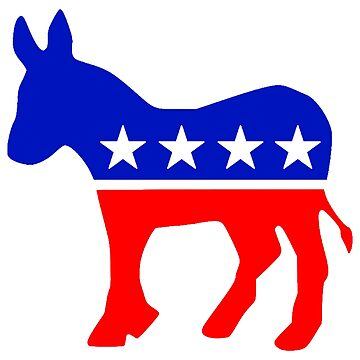 Democratic Party Donkey by TOMSREDBUBBLE