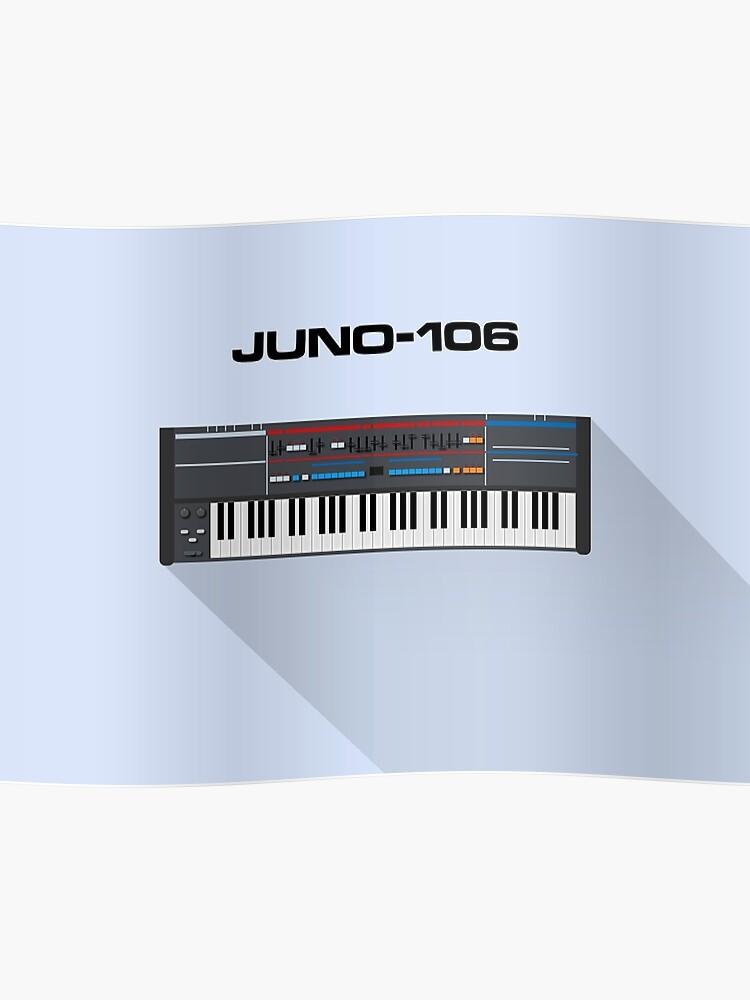 Roland Juno-106 Vintage Synth Design | Poster