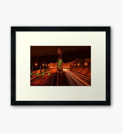 Night at Melba Tunnel Framed Print