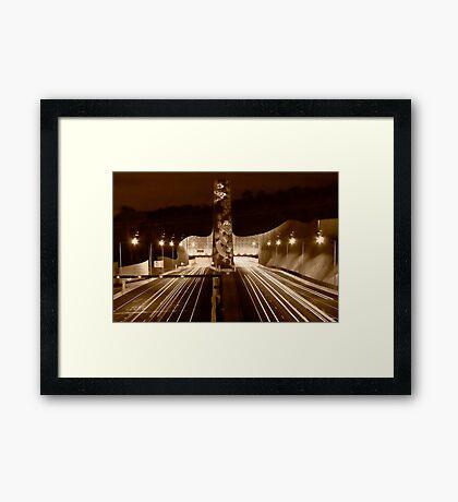 Night at Melba Tunnel in Sepia Framed Print