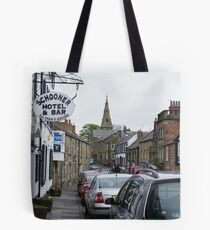 Schooner Hotel and High Street, Alnmouth, Northamptonshire Tote Bag
