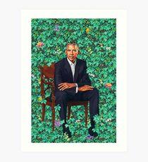 Lámina artística Retrato de Obama