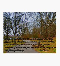 GOD'S STOREHOUSE OF BLESSINGS Photographic Print