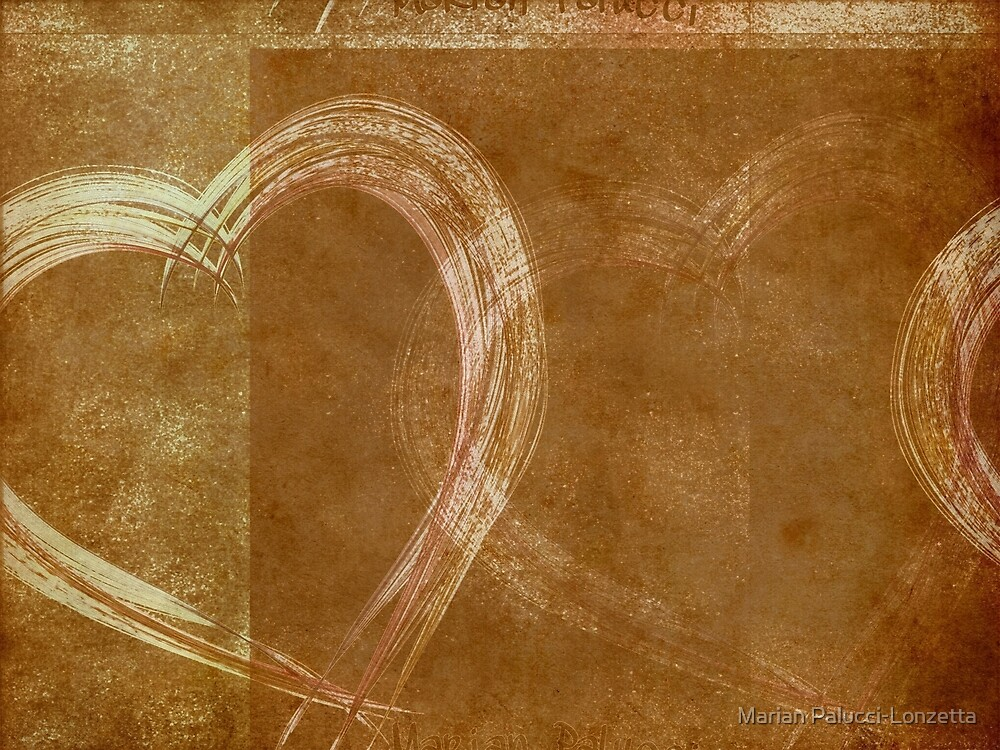 Wall Hearts by Marian Palucci-Lonzetta
