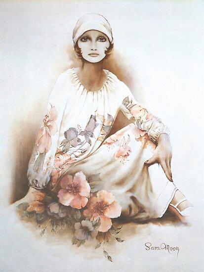 """Moshgan"" Oil on Canvas by Sara Moon"