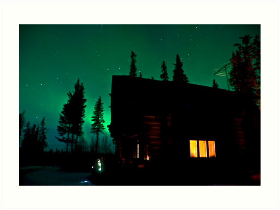 Cabin Lights by peaceofthenorth
