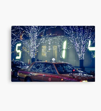 Taxi in Roppongi hills Canvas Print