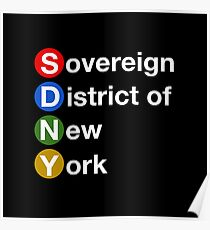 Sovereign District of New York Poster