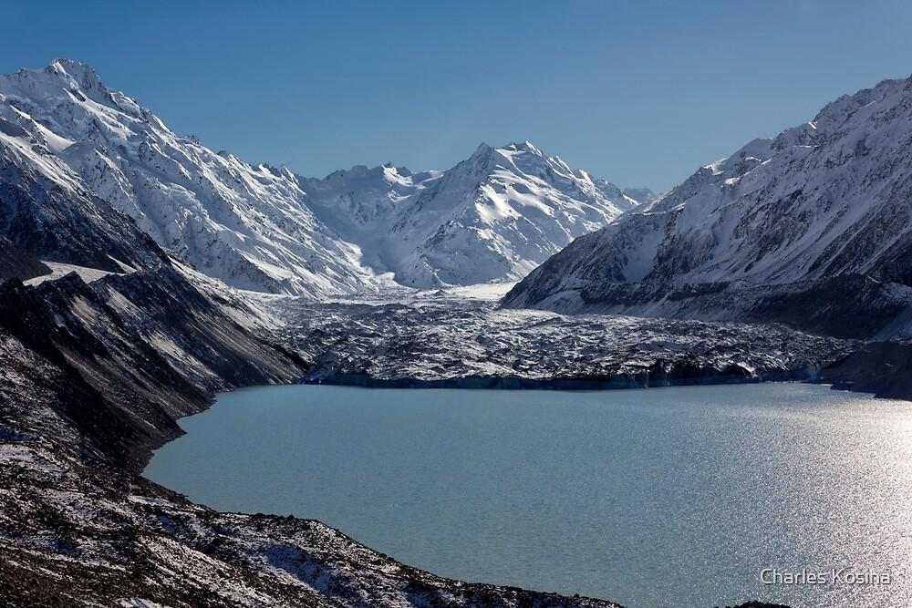 Tasman Lake and Glacier by Charles Kosina