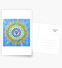 Vishudda - the Throat Chakra Postcards