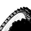 London Eye Black Silhouette by ValeriesGallery