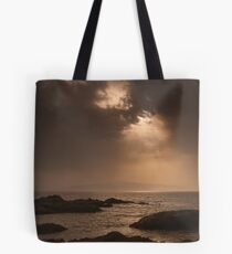 Atlantic Sunset on the Rocks Tote Bag
