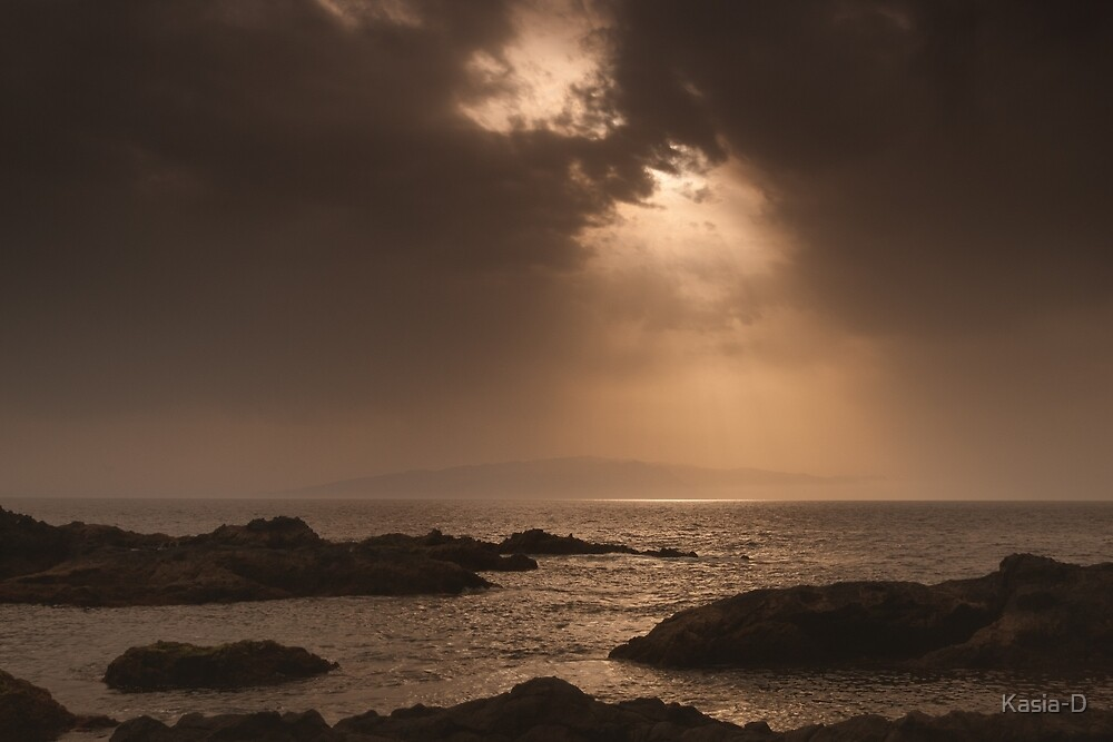 Atlantic Sunset on the Rocks by Kasia-D