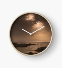 Atlantic Sunset on the Rocks Clock
