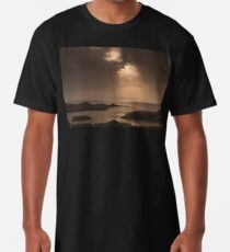 Atlantic Sunset on the Rocks Long T-Shirt