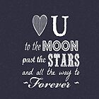Love you to the moon, stars, forever (eclipse) by shawntking