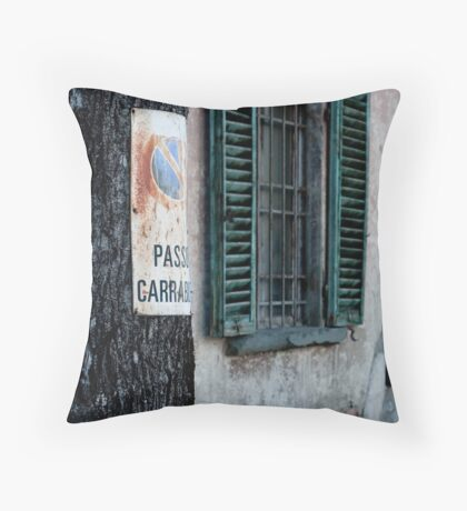 Window and Tree Throw Pillow