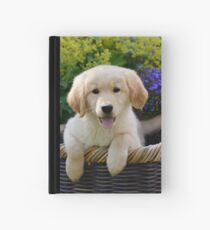 Charming Goldie Puppy Hardcover Journal