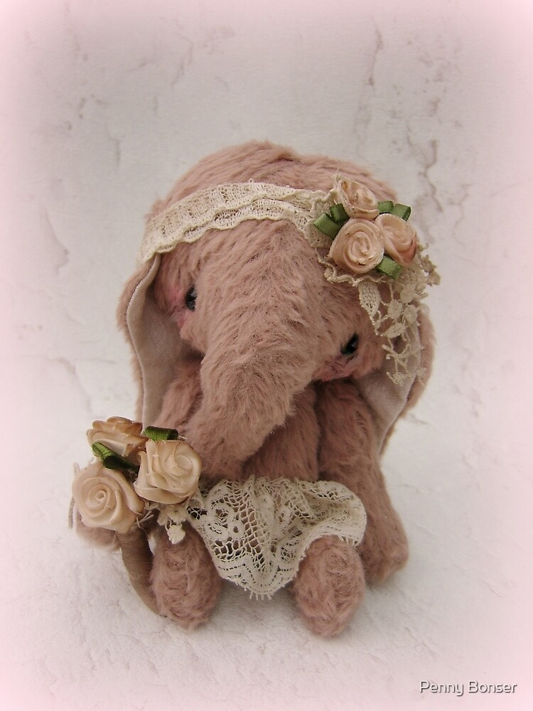 Bridie Elephant - Handmade bears from Teddy Bear Orphans by Penny Bonser