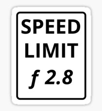 Photography Speed Limit Sticker