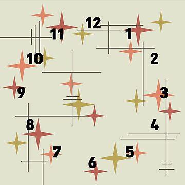 Mid Century Modern Stars by thepixelgarden
