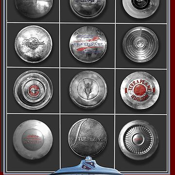 CLASSIC CAR CHROME HUBCAP COLLECTION by theoatman