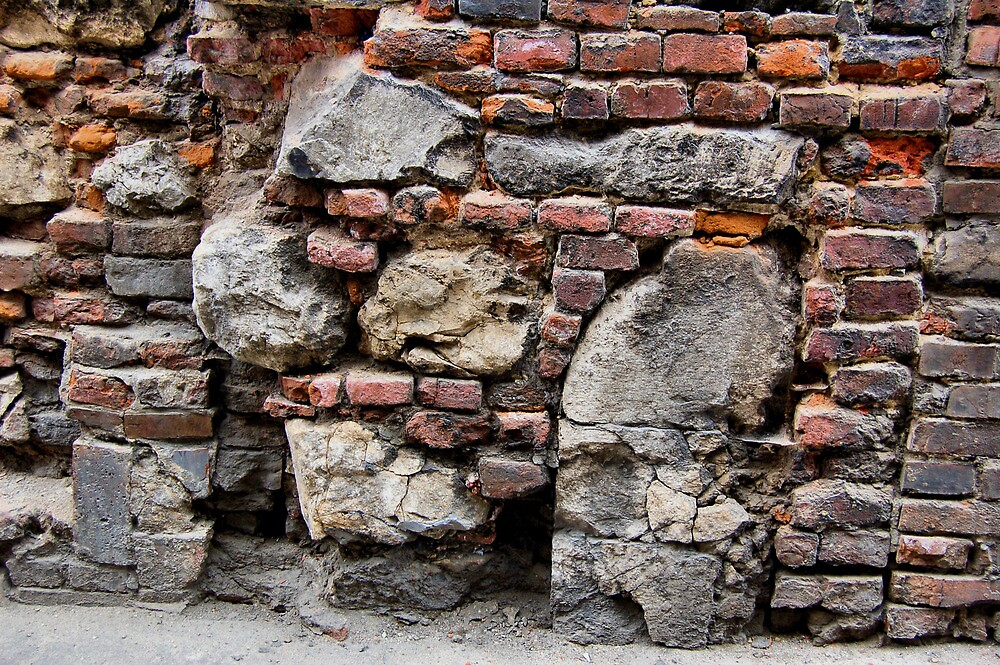 Old Jewish Cemetery Wall. Krakow, Poland. 2009 by jwhimages