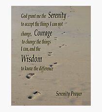 Serenity Prayer Photographic Print