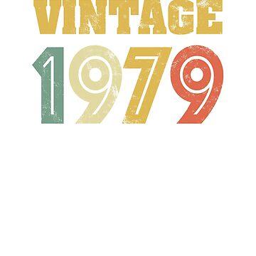 Vintage 1979 Retro 70's Colors 40th Birthday Gift by Irregulariteez