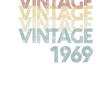 Vintage Retro 1969 Faded & Distressed 50th Birthday  by Irregulariteez