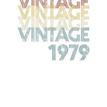 Vintage Retro 1979 Faded & Distressed 40th Birthday  by Irregulariteez