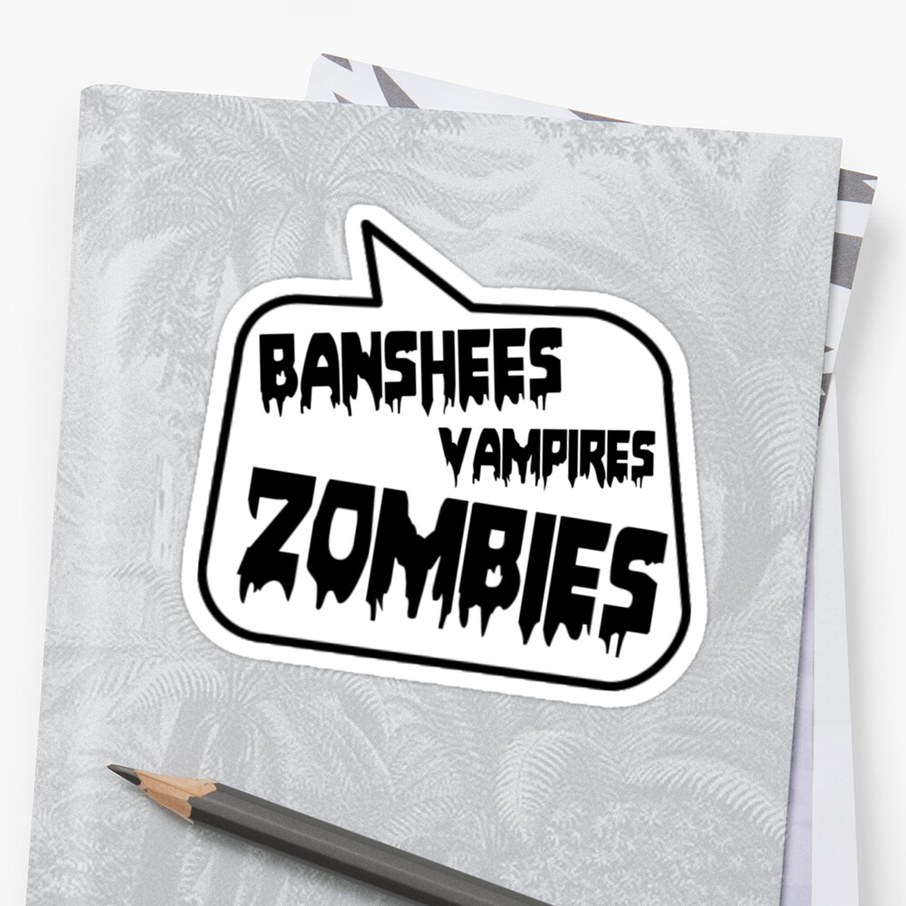 BANSHEES VAMPIRES ZOMBIES by Bubble-Tees.com by Bubble-Tees