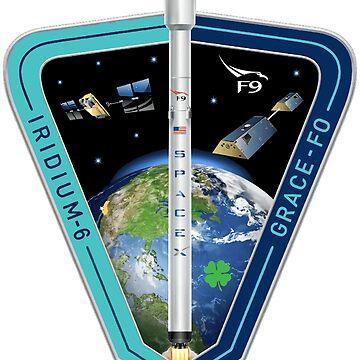 Iridium Next Launch 6 Program Logo by Spacestuffplus