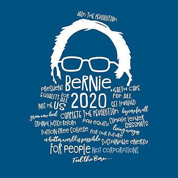 Bernie 2020 Word Bubble by jitterfly
