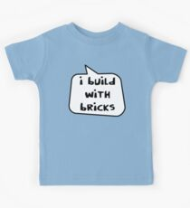 I BUILD WITH BRICKS by Bubble-Tees.com Kids Tee