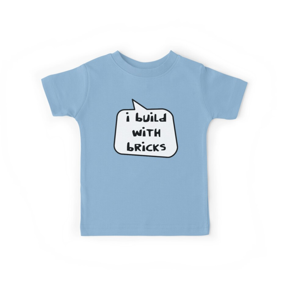 045502d6dd0ab 'I BUILD WITH BRICKS by Bubble-Tees.com' Kids Clothes by Bubble-Tees