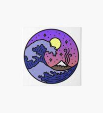 The Great Wave Cute Sunset Art Board