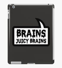 BRAINS JUICY BRAINS by Bubble-Tees.com iPad Case/Skin