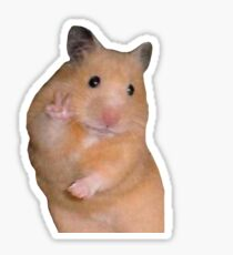 peace out hamster Sticker