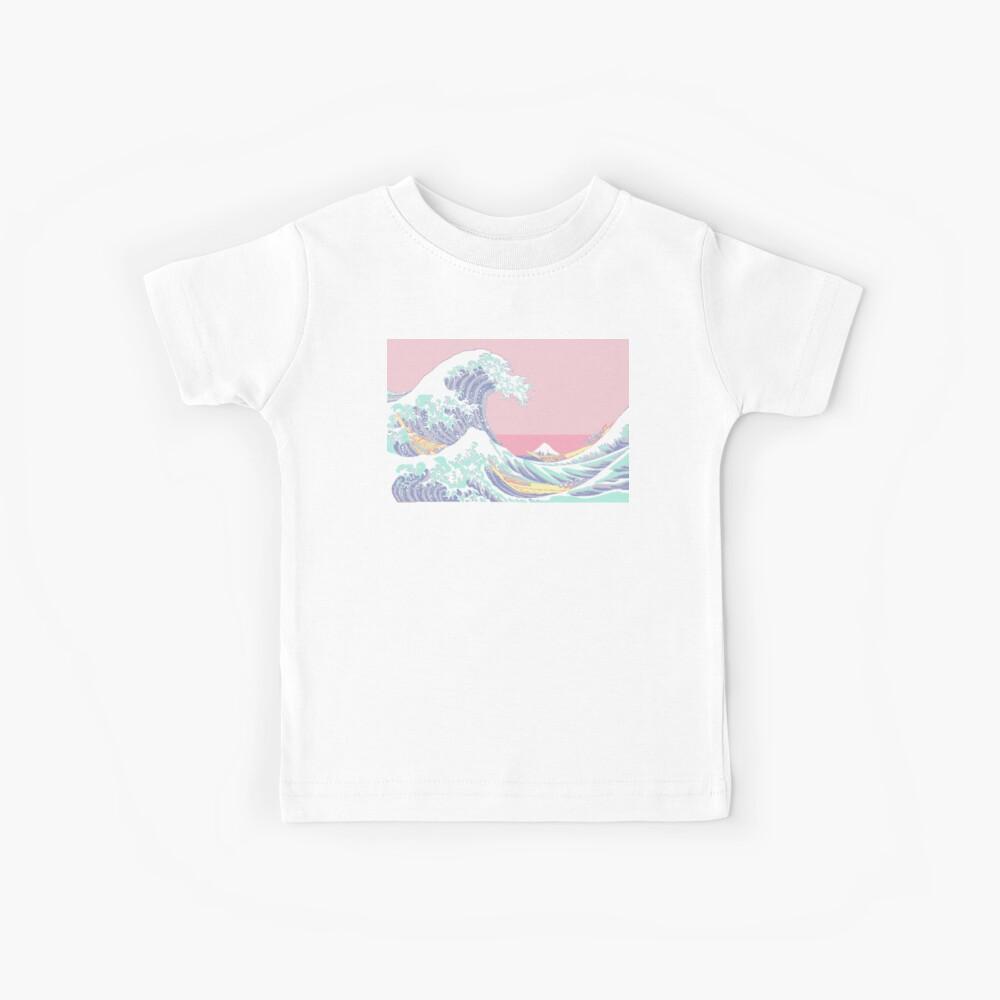 Pastell große Welle Kinder T-Shirt