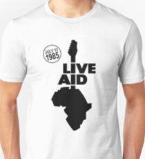 Live Aid Band Aid Juli 1985 Slim Fit T-Shirt