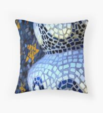 waves in tile Throw Pillow