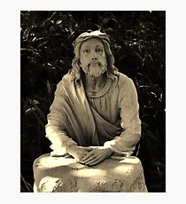 Jesus Praying In The Garden Photographic Print