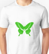 Green Butterfly - Vector Art Unisex T-Shirt
