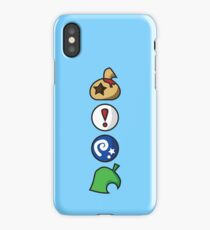 Animal Crossing Items (in many colours!) iPhone Case/Skin