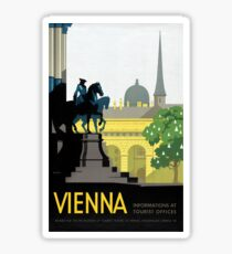 Vienna Vintage Travel Poster Restored Sticker