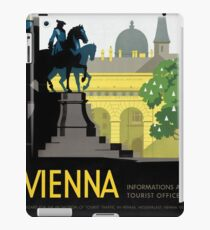 Vienna Vintage Travel Poster Restored iPad Case/Skin